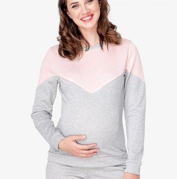 Костюм для беременных и кормящих мам Creative Mama, Enjoy (футер серый с начесом)