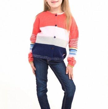 Яркая кофта на девочку ТМ Lutik на пуговицах