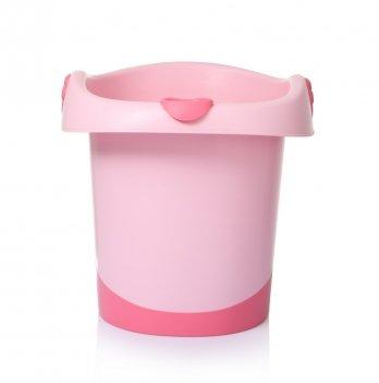 Детская сидячая ванночка Babyhood, Банни, розовая