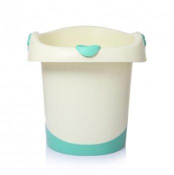 Детская сидячая ванночка Babyhood, Банни, белая с зеленым