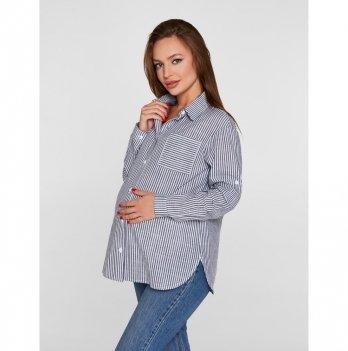 Рубашка для беременных и кормящих мам Lullababe Cannes Синий LB09CN301