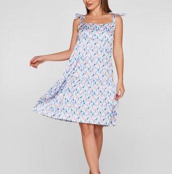 Шелковое платье для беременных Lullababe Maldives Перья