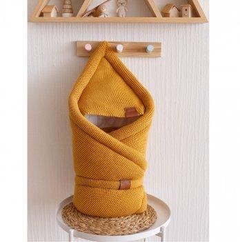 Конверт-одеяло вязанное трикотаж Magbaby Familia Горчичный