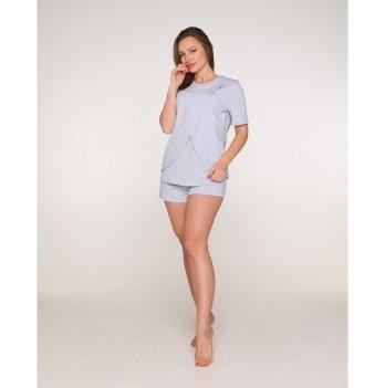 Пижама для беременных и кормящих мам Lullababe Paleromo Меланж LB11PL118