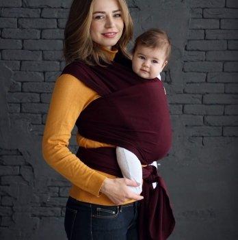 Трикотажный слинг-шарф Ordos Lullababe Марсала New