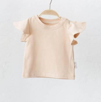 Детская футболка для девочки Magbaby Berry Светло-бежевый 0-3 года
