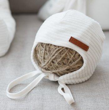 Велюровая шапочка Magbaby Velvet Белый