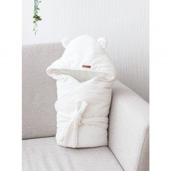 Велюровый конверт одеяло осень весна Magbaby Velvet Молочный