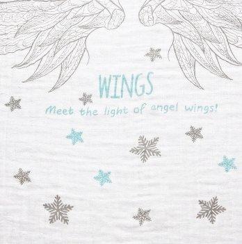 Бамбуковая пеленка Mum and fun Крылья ангела