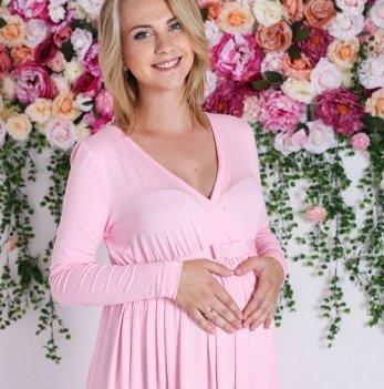 Платье для беременных и кормящих MBerry dress, вечернее, из вискозы, нежно-розовое