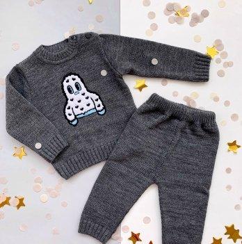 Костюм для малыша ТМ Lutik с апликацией, серый