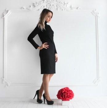 Платье-гольф для беременных и кормящих мам Lullababe, Черное