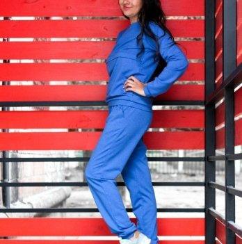 Спортивный костюм для кормящих мам Lullababe базовый Long, синий