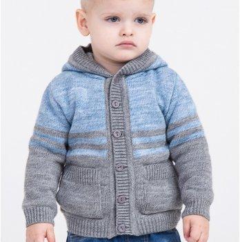 Кофта для мальчика ТМ Lutik с карманами и капюшоном, джинс
