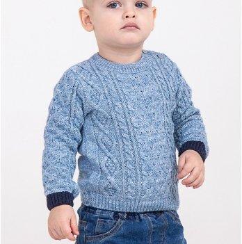 Вязаный свитер ТМ Lutik на мальчика, голубой