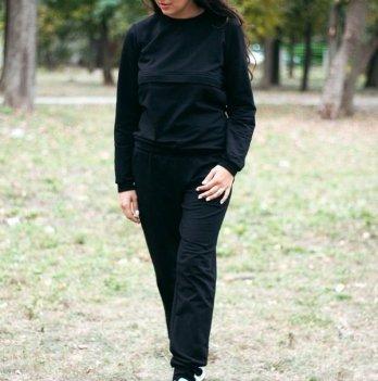 Спортивный костюм для кормящих мам Lullababe базовый Long, черный