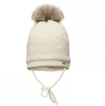 Зимняя шапка для девочки Broel, возраст от 1 до 3 лет, арт. IVONE, экрю