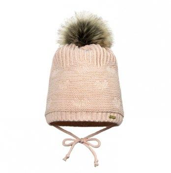 Зимняя шапка для девочки Broel, возраст от 1 до 3 лет, арт. IVONE, пудра