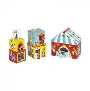 Кубики картонные Janod Цирк J02800