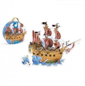 Пазл-напольный Janod Корабль пиратов J02819