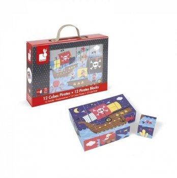 Кубики картонные Janod Пираты J02984