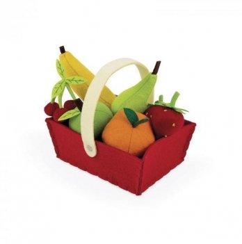 Игровой набор Janod Корзина с фруктами 8 элементов J06577