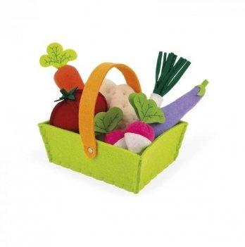 Игровой набор Janod Корзина с овощами 8 элементов J06578