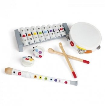 Набор деревянных музыкальных инструментов Конфетти Janod J07600