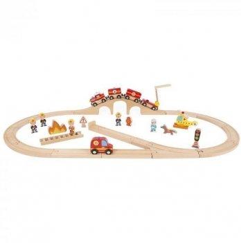 Игровой набор с треком Janod Пожарная команда J08539