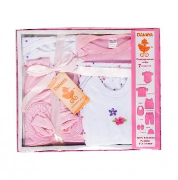 Набор для новорожденных из 7 предметов DANAYA 0-3 мес. розовый