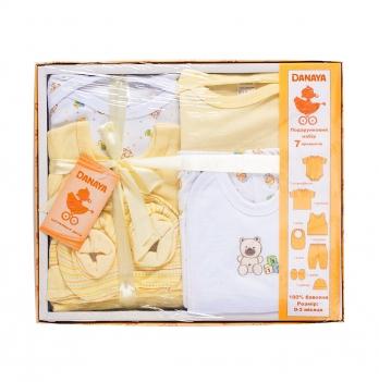 Набор для новорожденных из 7 предметов DANAYA 0-3 мес. желтый