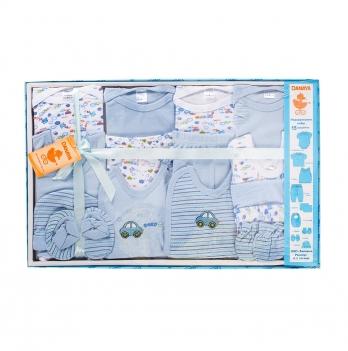 Набор для новорожденных из 15 предметов DANAYA 0-3 мес. голубой