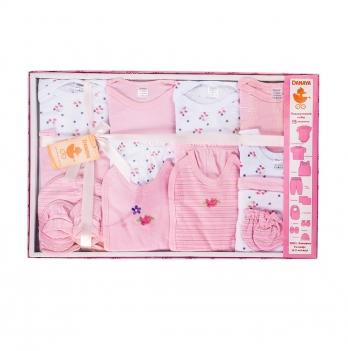 Набор для новорожденных из 15 предметов DANAYA 0-3 мес. розовый