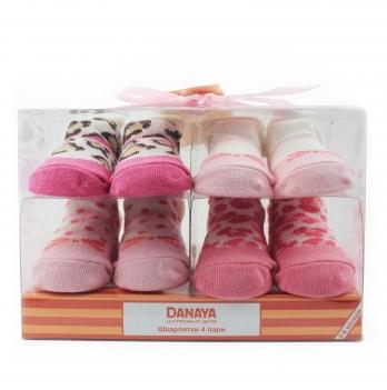 Носочки DANAYA 0-6 мес. K25-A0220 розовые 4 шт.