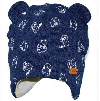 Шапка для мальчика Broel, возраст от 6 до 12 месяцев, синяя