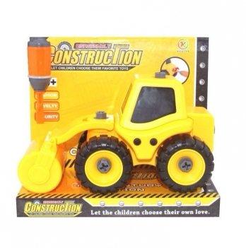 Разборная модель трактора с катком Kaile Toys KL702-4 с отверткой