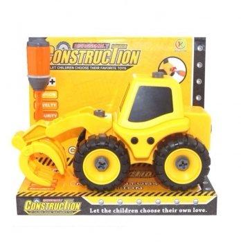 Разборная модель трактора с погрузчиком Kaile Toys KL702-5 с отверткой