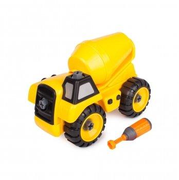 Разборная модель бетономешалки Kaile Toys KL702-8 с отверткой