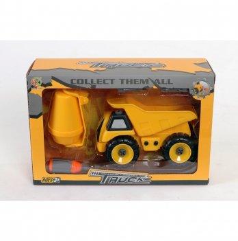 Набор бетоновоз/самосвал Kaile Toys KL716-1 разборная модель с отверткой