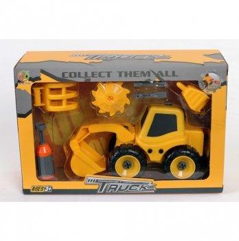 Набор трактор с аксессуарами Kaile Toys KL716-3 разборная модель с отверткой