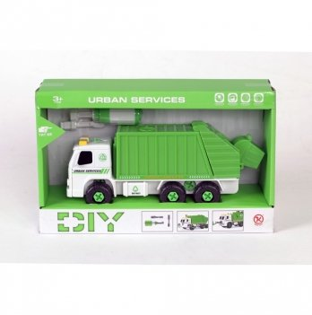 Разборная модель мусоровоза Kaile Toys KL902-2 с отверткой