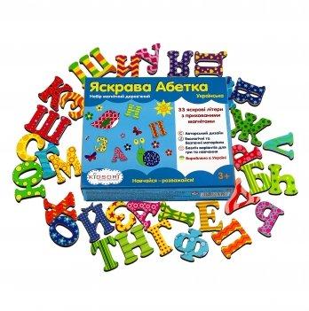 Набор магнитный Kidsori, Яркая Азбука, 33 буквы, украинский