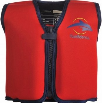 Плавательный жилет Konfidence Original Jacket, Red/ Yellow KJ01