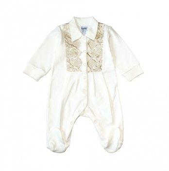Человечек для крещения интерлок Маленький Принц Interkids 4148/4149/4111/4147 молочный