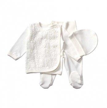 Комплект для крещения интерлок Ада Interkids 4045/4076 молочный
