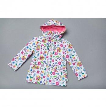 Ветровка для девочек Модный карапуз Белый 03-00967