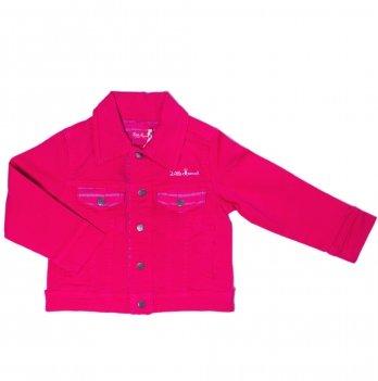 Пиджак джинсовый для девочки Little Marcel розовый