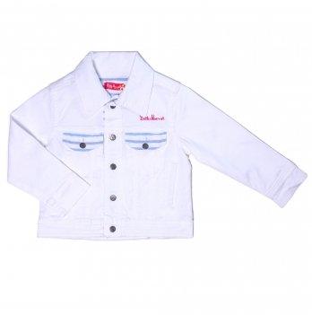 Пиджак джинсовый для девочки Little Marcel белый