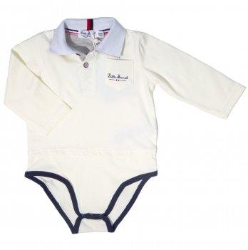 Боди-поло для мальчика Little Marcel белый