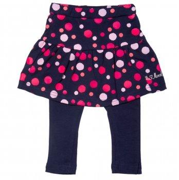 Юбка-лосины для девочки 2в1 Little Marcel синяя в горошек